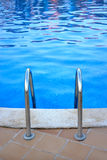 Swimming pool steps Royalty Free Stock Photography