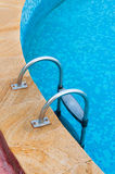 Swimming pool steps Stock Photos