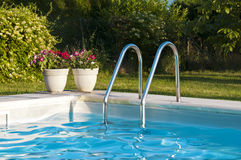Swimming pool with steps Stock Images