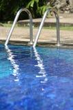 Swimming pool steps Royalty Free Stock Image