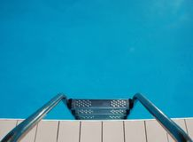 Swimming Pool Steps Without Shadows Stock Image