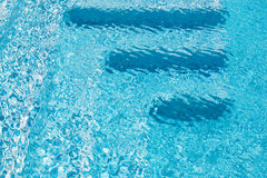 Swimming pool steps Royalty Free Stock Photos