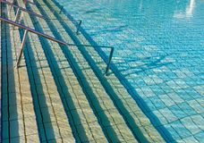 Swimming Pool. The steps of a swimming pool. Summer vacation Stock Image