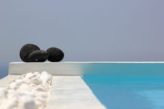 Swimming pool and stones set Royalty Free Stock Photography