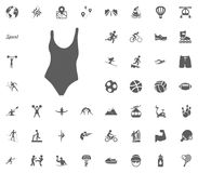 Swimming pool suit icon. Sport illustration vector set icons. Set of 48 sport icons. Swimming pool suit icon. Sport illustration vector set icons. Set of 48 Royalty Free Stock Photos