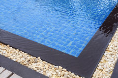 Swimming pool. Summer resort swimming pool in a sunny day Stock Photo