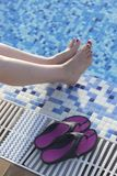 Swimming pool summer vacation Royalty Free Stock Photo