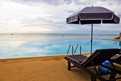 Swimming pool at sun rise. Stock Image