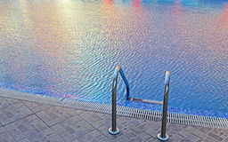 Swimming pool in Sunny beach Stock Photo
