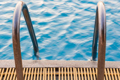 Swimming pool. With sunny reflections Stock Photography