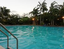 Swimming pool. Before sunset Royalty Free Stock Photo