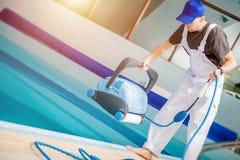 Swimming Pool Technician royalty free stock image