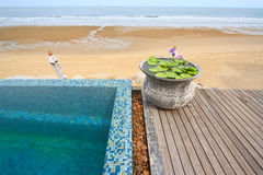 Swimming pool terrace Stock Photography