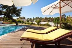 Swimming pool terrace Stock Image