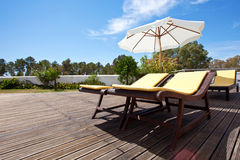 Swimming pool terrace Royalty Free Stock Photography