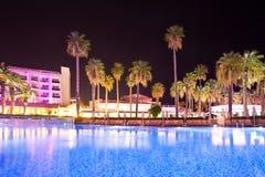 Swimming pool in the territory hotel at night.  Marmaris. Turkey Stock Photo