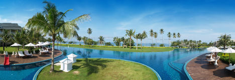 Swimming pool in thailand Stock Images