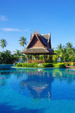 Swimming pool in Thailand. Beautiful swimming pool in Thailand Royalty Free Stock Image