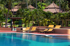 Swimming pool, Thailand. Royalty Free Stock Photos