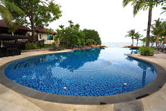 Swimming pool in Thailand Royalty Free Stock Photo