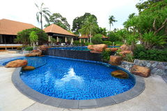 Swimming pool in Thailand Stock Photography