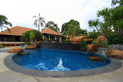 Swimming pool in Thailand Royalty Free Stock Photography