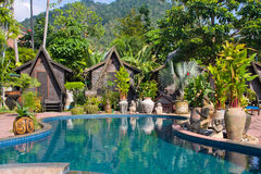 Swimming pool , Thailand. Royalty Free Stock Images