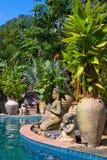 Swimming pool. Thailand . Stock Photo
