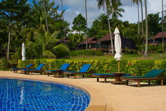 Swimming pool in Thailand Royalty Free Stock Photos