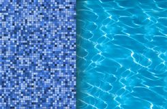 Swimming pool and tile ideal Royalty Free Stock Photo