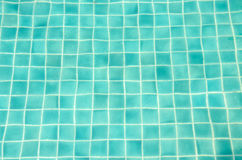 Blue tiles swimming pool water Stock Photo