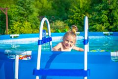 Swimming Pool Time Royalty Free Stock Photos