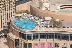 Swimming pool on top of buildings, Dubai, UAE Royalty Free Stock Photo