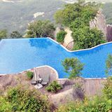 Swimming pool in top of mountain Royalty Free Stock Photography