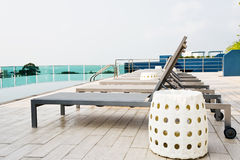 Swimming pool on top of roof Royalty Free Stock Images