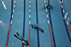 Swimming pool top view Stock Image
