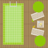 Swimming pool top view Royalty Free Stock Photography