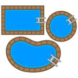 Swimming Pool Tops Royalty Free Stock Photos