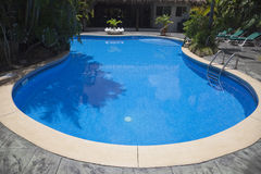Swimming Pool at Tourist Resort Royalty Free Stock Image