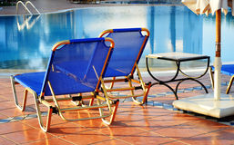 Swimming pool in touristic resort Stock Image