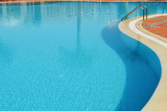 Swimming pool in touristic resort Royalty Free Stock Images