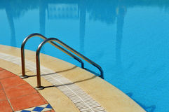 Swimming pool in touristic resort Royalty Free Stock Image