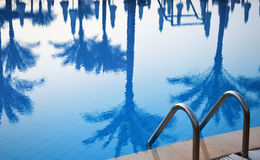 Swimming pool in touristic resort Royalty Free Stock Photography