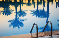 Swimming pool in touristic resort Stock Photos