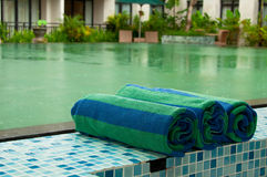 Swimming Pool Towel Royalty Free Stock Photos
