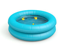Swimming pool with toy ducks Royalty Free Stock Images