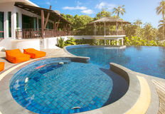 Swimming pool at Trat in Thailand summer season Stock Images