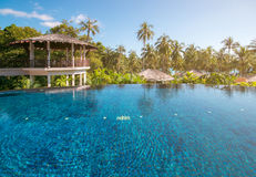 Swimming pool at Trat in Thailand summer season. Swimming pool at Trat in Thailand summer Stock Image
