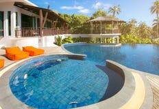 Swimming pool at Trat in Thailand. Summer season Royalty Free Stock Image