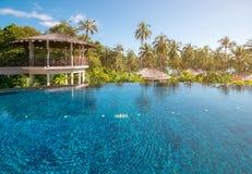 Swimming pool at Trat in Thailand. Summer season Stock Photos